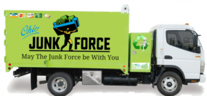 Junk Removal Cleveland - A picture of the Ohio Junk Force company truck.