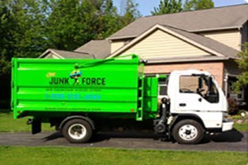 Junk Removal & Haul Away Services - A picture of the Ohio Junk Force company truck.